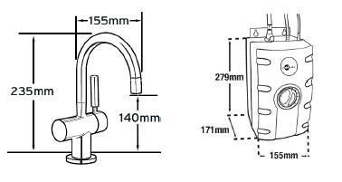 fontaine eau chaude avec filtration gn3300 chrom robinets et fontaines catalogue wc broyeur. Black Bedroom Furniture Sets. Home Design Ideas