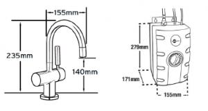 fontaine eau chaude et froide avec filtration hc3300 satin bross robinets et fontaines. Black Bedroom Furniture Sets. Home Design Ideas